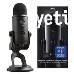 Yeti Blackout - Professional Multi-Pattern USB Microphone (for Recording & Streaming)